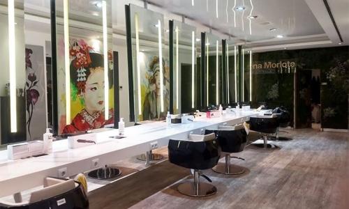 interior peluqueria barrio salamanca Lorena Morlote